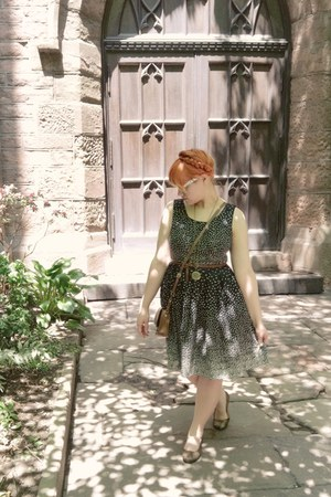 modcloth dress - H&M bag - modcloth sunglasses - Old Navy belt - Target flats -