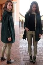 Zara boots - Zara coat - Zara jeans - Ovs Industry sweater - Zara scarf