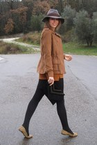 amichi jacket - Zara shoes - H&M hat - Calzedonia tights - ALLO by Kateryna bag