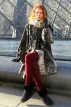 Egon Von Furstenberg boots - Zara jeans - Batulu gloves