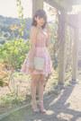 Light-pink-asos-dress-off-white-vintage-chanel-bag