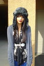 Gray-ross-hat-black-vintage-blouse-silver-h-m-belt-blue-urban-outfitters-p