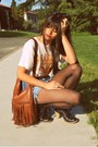 Black-urban-outfitters-boots-brown-fringe-h-m-bag-light-blue-denim-urban-out