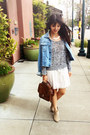 Tan-mark-report-boots-ivory-brandy-melville-dress
