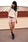 Black-urban-outfitters-boots-ivory-forever-21-sweater