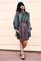 light brown pleated alainn bella skirt