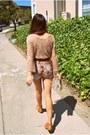 Tawny-aldo-crossroads-boots-ivory-vintage-chanel-bag-maroon-wasteland-shorts