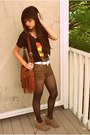 Black-rad-biluxi-shirt-tawny-fringe-h-m-bag-dark-brown-leopard-jeans-forever