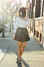 Ivory-lace-charlotte-russe-top-light-pink-lace-skater-charlotte-russe-skirt