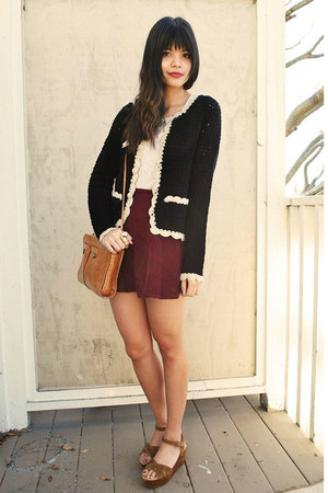 corduroy American Apparel skirt - Line &amp; Dot jacket