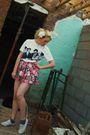 Pink-urban-outfitters-skirt-white-t-k-maxx-t-shirt-white-dorothy-perkins-sho