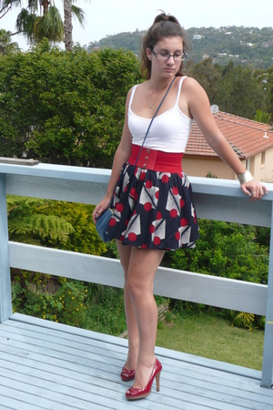 supre top - Jay Jays skirt - supre belt - heel to heel shoes - cab 55 purse - Sp