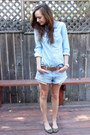 Sky-blue-jean-american-eagle-shorts-sky-blue-chambray-forever-21-top