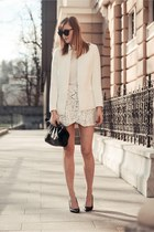 cameo skirt - cameo blazer - Le specs sunglasses