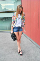 chicnova jacket - Sheinsidecom shirt - H&M shorts