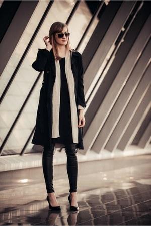 Topshop coat - H&M cardigan