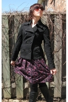 H&M blazer - H&M dress - Spring boots