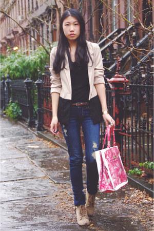 Banana Taipei bag - Zara shoes - PacSun jeans - H&M blazer