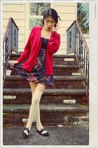 American Rag dress - Forever 21 socks - vintage cardigan