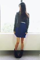 lulus dress - Sheinside jacket