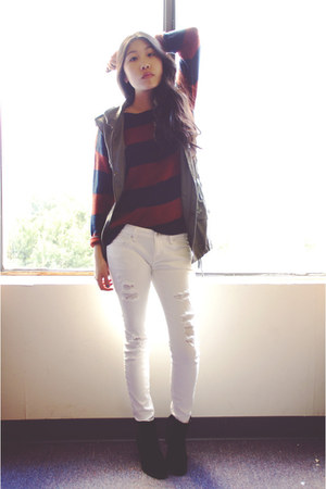 PacSun boots - PacSun jeans - Forever21 sweater - Sammy dress vest