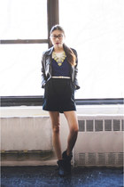 Sheinside jacket - WalG romper - shoplately necklace