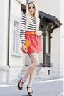 Louis-vuitton-bag-zara-wedges-tie-ups-belt-zara-skirt-h-m-top