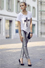 INTEESWETRUST shirt - Zara jeans - Vogele heels - Chanel wallet