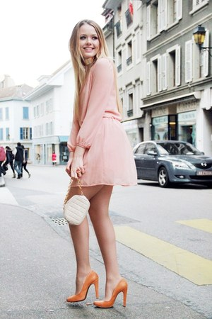 peach peach dress