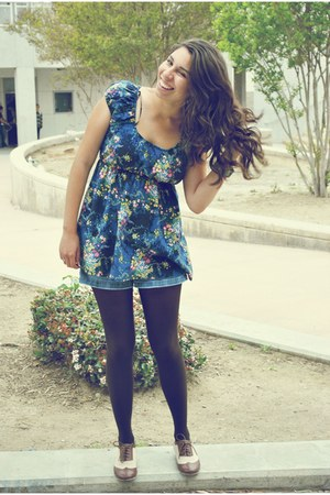 oxfords Forever 21 shoes - Forever 21 tights - denim Forever 21 shorts - Forever