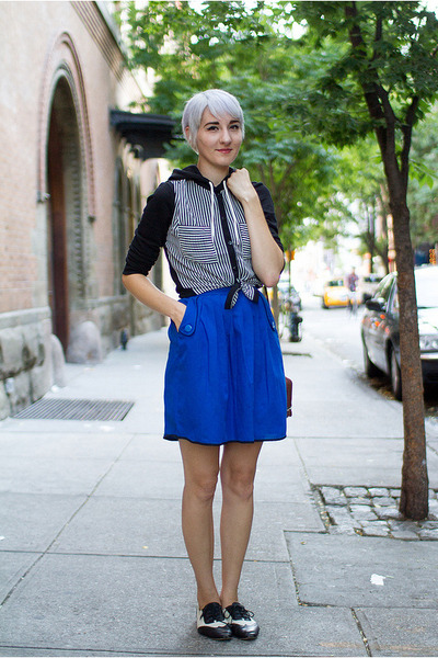 H&M hoodie - thrifted shoes - pibs xchange skirt - Sheinsidecom vest