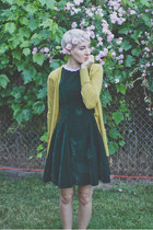 Vintage Thrifted dress - last chance cardigan