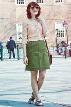 vintage skirt - vintage sweater - Beacons Closet sunglasses