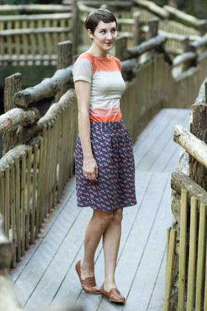 skirt - vintage shirt - vintage sandals