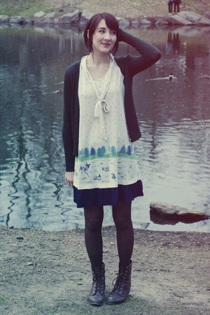 Syrup dress - J Crew cardigan