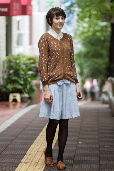 Syrup sweater - Japan skirt - vintage flats