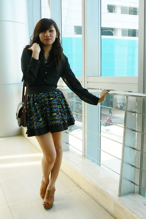 Forever 21 skirt - sheer top