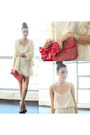 White-brandy-melville-dress-ivory-audrey-31-coat-red-betsey-johnson-bag