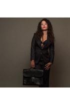 Tom Ford suit - Hermès sac à depeche bag - Rolex Oyster Lady Datejust watch