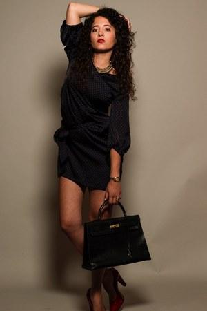 Class fashion Italy dress - Hermes Kelly Lizzard bag - Yves Saint Laurent flats