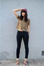 Pink-vintage-scarf-gold-vintage-blouse-bdg-jeans-brown-elemenoe-shoes-bl
