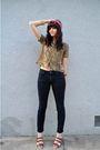 Pink-vintage-scarf-gold-vintage-blouse-bdg-jeans-brown-elemenoe-shoes-bl