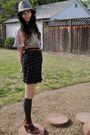 Gray-vintage-hat-vintage-blouse-brown-vintage-belt-black-vintage-skirt-g