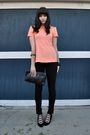 Pink-vintage-blouse-black-american-apparel-pants-black-jeffrey-campbell-shoe