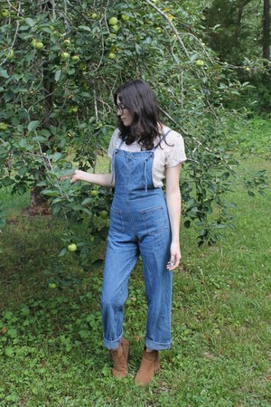 blue denim vintage romper