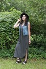 Black-cut-out-urban-outfitters-boots-gray-maxi-dress-buffalo-exchange-dress