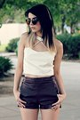 White-cut-out-jeffrey-campbell-heels-crimson-pu-romwe-shorts