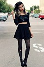Black-pacsun-leggings-black-pleated-romwe-skirt-black-mesh-lulus-top