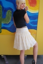 the gap skirt - razzle dazzle t-shirt - shoes - Urban Outfitters - necklace