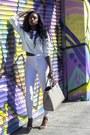 Silver-h-m-bag-nude-zara-sandals-white-high-waist-topshop-pants
